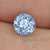 light Montana Sapphire blue violet round
