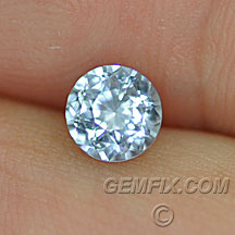 untreated round blue Montana Sapphire