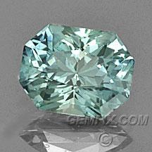 Montana Sapphire green blue radiant cut