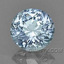 Montana Sapphire light blue unheated round