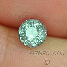 unheated teal green montana sapphire round
