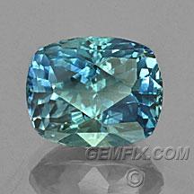 montana sapphire blue green cushion