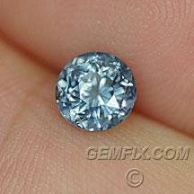 montana sapphire round blue