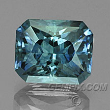 radiant blue green sapphire from Montana