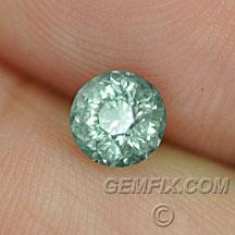 round teal unheated montana sapphire