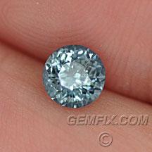 round denim blue montana sapphire