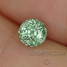 round montana sapphire green untreated