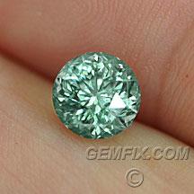 unheated teal montana sapphire round