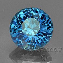 blue Montana Sapphire round