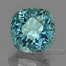 cushon blue green Montana Sapphire