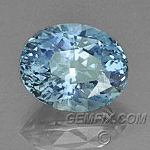 oval unheated blue Montana Sapphire