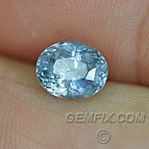 Montana Sapphire oval unheated blue