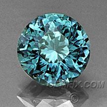 teal Montana Sapphire round