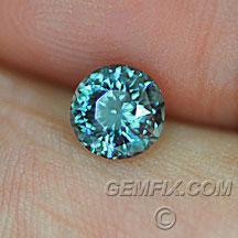 blue green Montana Sapphire round