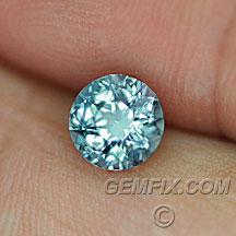unheated round blue green Montana Sapphire
