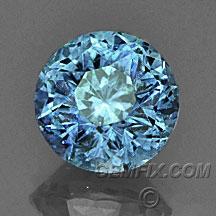 blue round Montana Sapphire