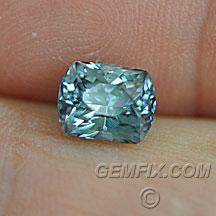 Montana Sapphire cushion blue green