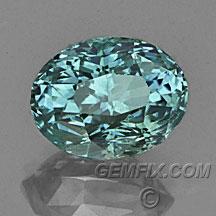 Montana Sapphire oval blue green