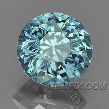 Montana sapphire blue green round