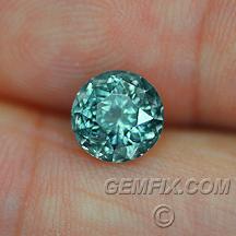 round Montana sapphire green blue