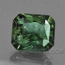 green Montana Sapphire Radiant