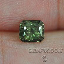 radiant cut Montana Sapphire green