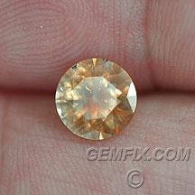 orange Montana Sapphire round