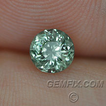round blue green Montana Sapphire untreated