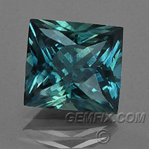 Montana Sapphire teal radiant cut