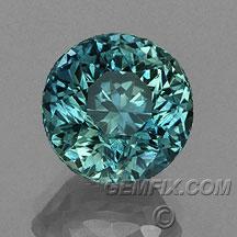 round green blue Montana Sapphire
