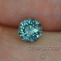 Montana Sapphire teal round