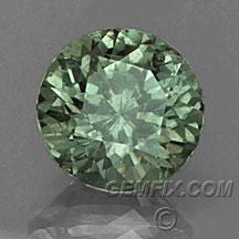 green round Montana Sapphire
