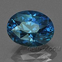 intense blue oval Montana Sapphire