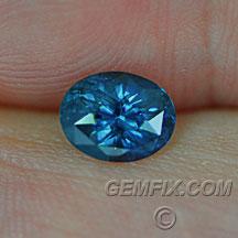 blue Montana Sapphire oval