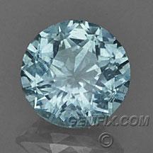 aqua color round Montana Sapphire