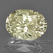 diamond yellow Montana Sapphire oval