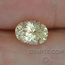Montana Sapphire yellow oval