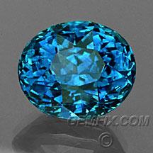 large blue oval Montana Sapphire