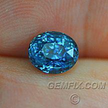 Montana Sapphire blue oval