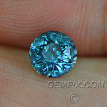 sapphire from Montana denim blue round