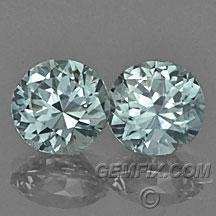Montana Sapphire aqua color round pair