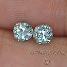 Montana Sapphires round pair aqua color