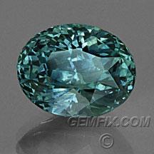 teal oval Montana Sapphire green blue