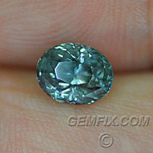 Montana Sapphire oval green blue teal