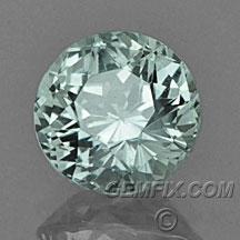 round aqua color Montana Sapphire