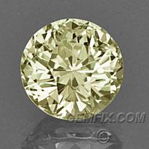 yellow round Montana Sapphire
