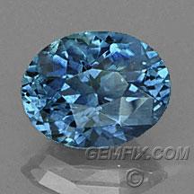 Montana Sapphire oval blue