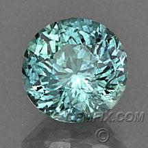 teal blue green Montana Sapphire round