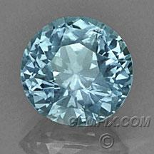 large unheated round blue Montana Sapphire
