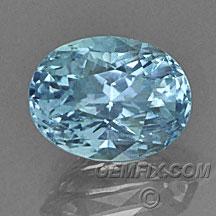 oval Montana Sapphire unheated aqua blue